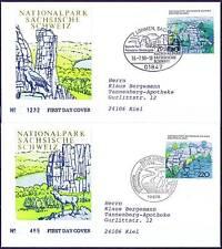 BRD 1998: Sächsische Schweiz! FDC Nr 1997+1998! Stempel Berlin+Lohmen! Gel. 1712