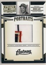 MOISES ALOU 2005 Prime Patches Portraits 4-CLR LOGO NAME PLATE PATCH 7/7 ASTROS