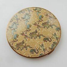 Vintage Vogue Vanities Oriental Dragon Mirror Powder Compact
