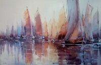 """Tableau peinture 65x100 """"Eu silence """" acrylique sur toile"""