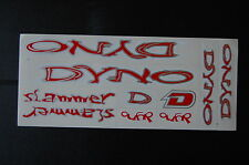 DYNO Slammer Stickers Red, Silver & White.