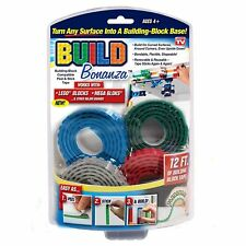 Build Bonanza Flexible Peel and Stick Tape Building Block - Red, Blue, Grey, Gre