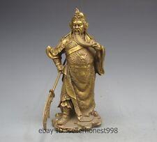 China Pure Copper Brass Guan Gong Guan Yu Warrior God Wu Fortuna Statue