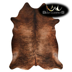 AMAZING artifical Cowhide Rug Animal Cow printed brown Large size best Carpet
