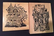 Two Rubber Stamp PSX Halloween Haunted House K943 + K1948