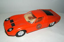 Plastikauto Lamborghini Miura P 400, high speed mechanism, AK, Motor, W Germany