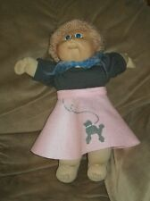 """16"""" CPK Cabbage Patch Kids outfit only FELT POODLE SKIRT+SWEATER+CHIFFON SCARF"""