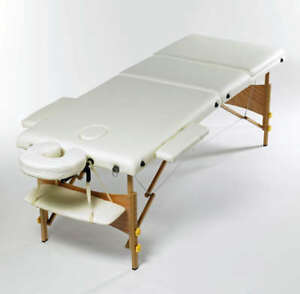 Massage Bed Table Couch Portable 3 Way White Adjustable Folding Therapy Beauty