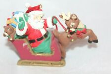 Midwest of Cannon Falls Rudolph Co. Christmas Santa on Sleigh Reindeer Ornament
