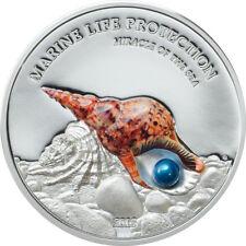 2016 Palau PEARL - Marine Life Protection 1oz 999 Silver $5 coin -Miracle of Sea
