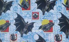 RARE Vintage DC Comics LIGHTWEIGHT Polycotton  Fabric Remnant 71 cm x 76 Down cm