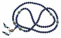 Collana Mala Tibetano Perle Lapislazzuli Ø 8.5mm-Corail Turchese 26741 - Mu