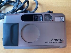 Contax T2 35mm with original box, case and cover, classic camera, VGC