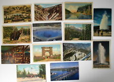 LOT OF 23 YELLOWSTONE NATIONAL PARK  WYOMING WY  POSTCARDS