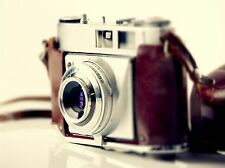 ART PRINT POSTER PHOTO OLD VINTAGE RETRO ANTIQUE CAMERA RED SILVER LFMP0760