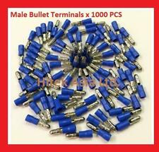 Male Bullet Crimp Terminals, Blue, 16-14 A.W.G , 1000PCS