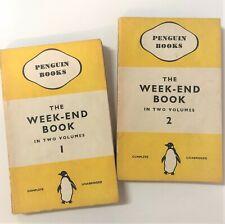 The Week-End Book Set 2 Volumes 1938 Vintage Penguin Classic 129-130