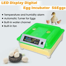 56 Egg Incubator Digital Fully Automatic Turning Chicken Poultry Eggs Hatcher