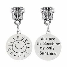 1PC You are my Sunshine Sun Song Child Mother Gift Charm for European Bracelets