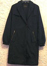 Cole Haan Women's Black Lined Coat/Trench, Size L
