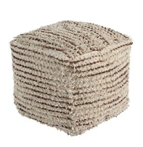 Signature Design by Ashley Pouf, Brown/Cream Brand New On Sale