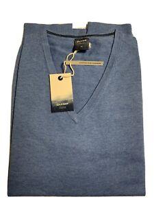 Olymp! Gr.XL Cotton-Silk-Cashmere Pullover. Blau.