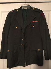 Vintage Vietnam Era Army Jacket Coat Honoris Custos Pin Patches Ribbons Rare 40R