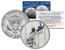 BANKSY * SHOP TILL YOU DROP * Colorized JFK Half Dollar U.S. Coin Street Art