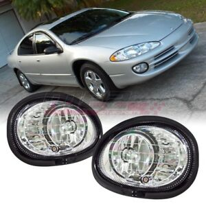 For Dodge Intrepid 98-03 Factory Bumper Replacement Fit Fog Lights Clear Lens
