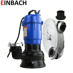 Hochwasserpumpe Fäkalienpumpe Tauchpumpe Schmutzwasserpumpe 0,55kW - 300L/min