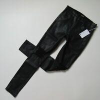 NWT Joe's Jeans Charlie in Miah Black Coated Destroy High Rise Skinny Ankle 26