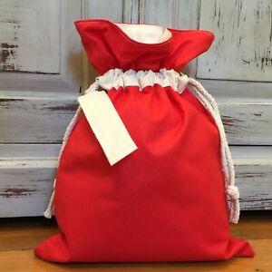 Christmas Gift Bag 35cm x 25cm, Santa Sack Small, Kris Kringle Gift, Gift Bag