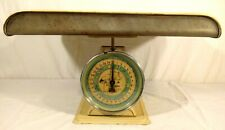 Vintage Blue Hanson Model 3025 Baby Infant Nursery Scale Good Working Condition