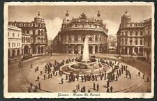 Genova : Piazza De Ferrari -  cartolina viaggiata nel 1940 per Orbetello