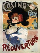 COMMERCIAL ADVERT CASINO PARIS REOPENING FRANCE POSTER ART PRINT BB1721A