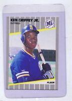 Ken Griffey Jr ORIGINAL Vintage 1989 Fleer Rookie Card RC #548 Mariners