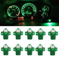 10x T5 B8.3D 5050 SMD Car LED Dashboard Dash Gauge Instrument Lights Bulbs Green