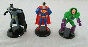 DC Comics PVC Figurines Batman Superman Lex Luthor Set of 3 East West Dist. Co.
