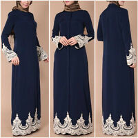 Dubai Style Abaya Jilbab Muslim Maxi Long Kaftan Islamic Long Party Dress Rope