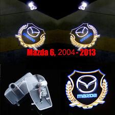 2x New LED Gold Logo Door Courtesy Laser Shadow Light For Mazda 6 2004-2013
