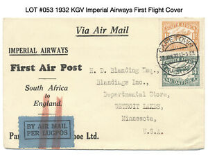 South Africa 1932 Imperial Airways First Flight Cover
