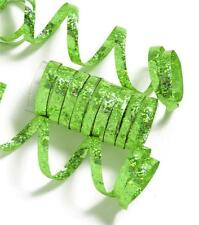GREEN HOLOGRAPHIC METALLIC PARTY STREAMERS - 10 THROWS EACH THROW IS 6.5FT LONG