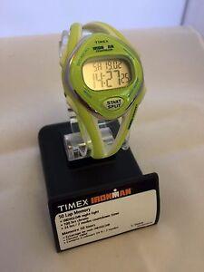 Timex Unisex Ironman Sleek 50 34mm Yellow Resin Band & Case Acrylic Crystal