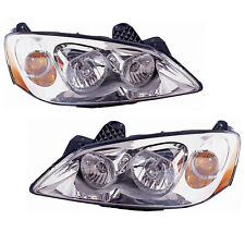 Headlights Halogen Left Right Pair High Quality Capa For 2005 2010 Pontiac G6 Fits Pontiac G6