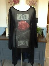 RELIGION TOP LONG DIPPED HEM SLOUCH SIZE LARGE UK 14 LOOSE FIT