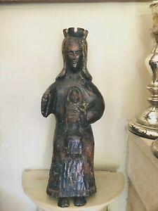 Sculpture  Bois  Vierge Noire à l'Enfant - Vierge Noire