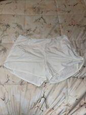 EUC Lululemon White Running Shorts Sz 6