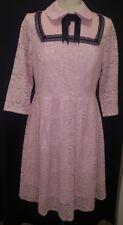 Fan Shang Pink Lace midi prom  dress size XL  rrp £135