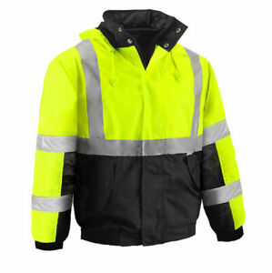 VEA  VEA-411 TWO TONE INSULATED HIGH VISIBILITY WATERPROOF BOMBER JACKET COAT 4X