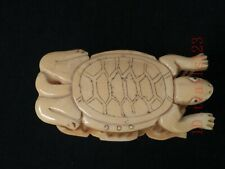 Collection Old China Handwork Carving Lovely Turtle Cricket Cage Decoration Gift
